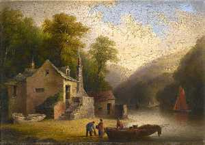 John Wallace Tucker - Duncannon, on the River Dart, below Totnes, Devon
