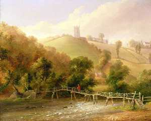 John Wallace Tucker - Near Chulmleigh, Devon (Chulmleigh from the River Dart, Devon)