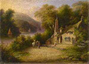John Wallace Tucker - On the River Dart between Totnes and Dartmouth, Devon