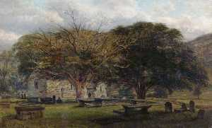 William Harold Cubley - The Old Churchyard, Betws y Coed