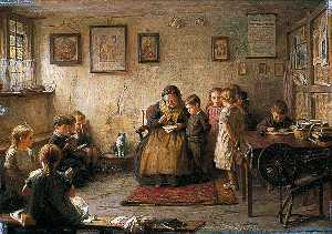 Frederick George Cotman - The Dame School
