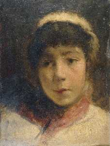 Charles Gogin - Girl in A White Cap