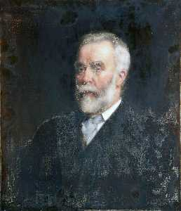 Robert Edward Morrison - Portrait of a Man with a White Beard