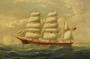 William Horde Yorke - The Barque 'J. H. Marsters' in Full Sail