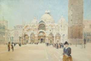 John Miller Nicholson - St Mark's Cathedral, Venice