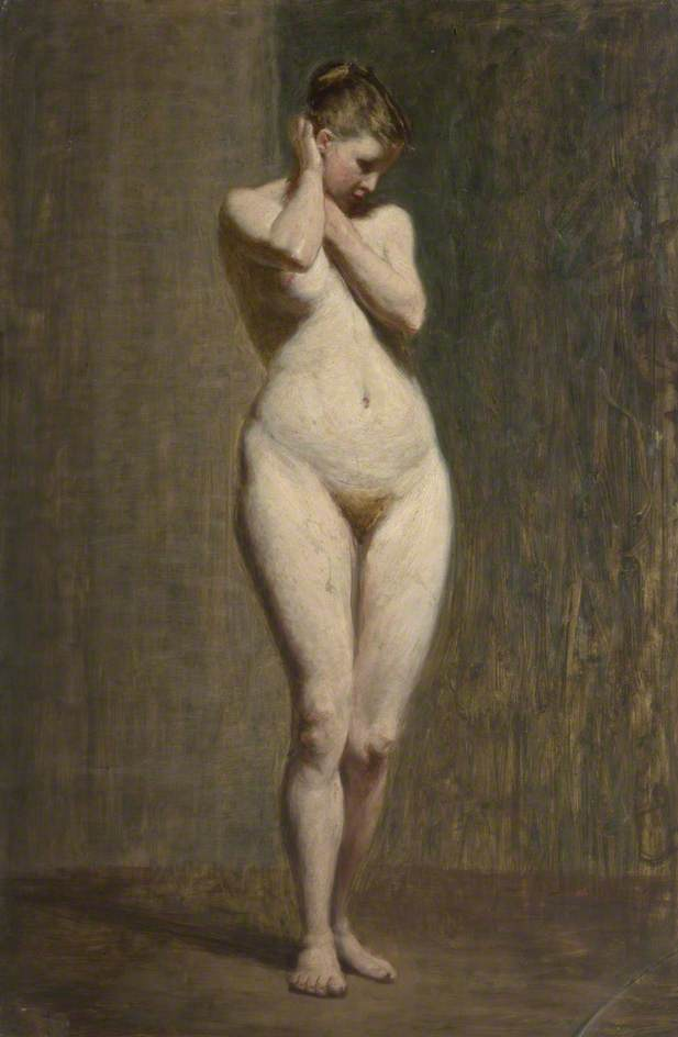 Standing Female Nude, 1873 By John Robertson Reid  Famous -7883