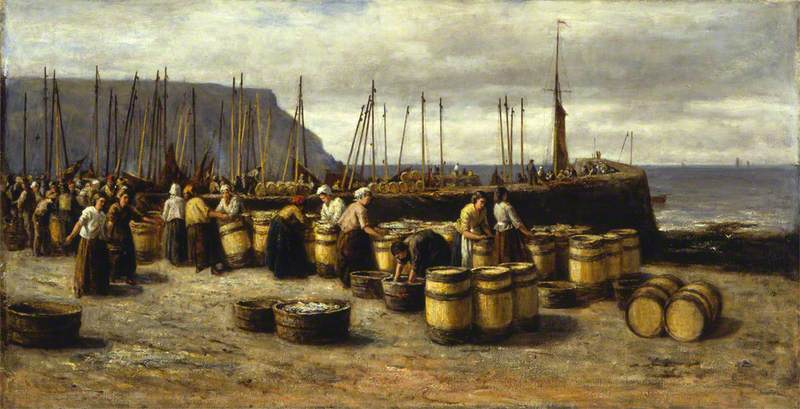The Herring Harvest, 1873 by Archibald David Reid | Museum Quality Reproductions | WahooArt.com