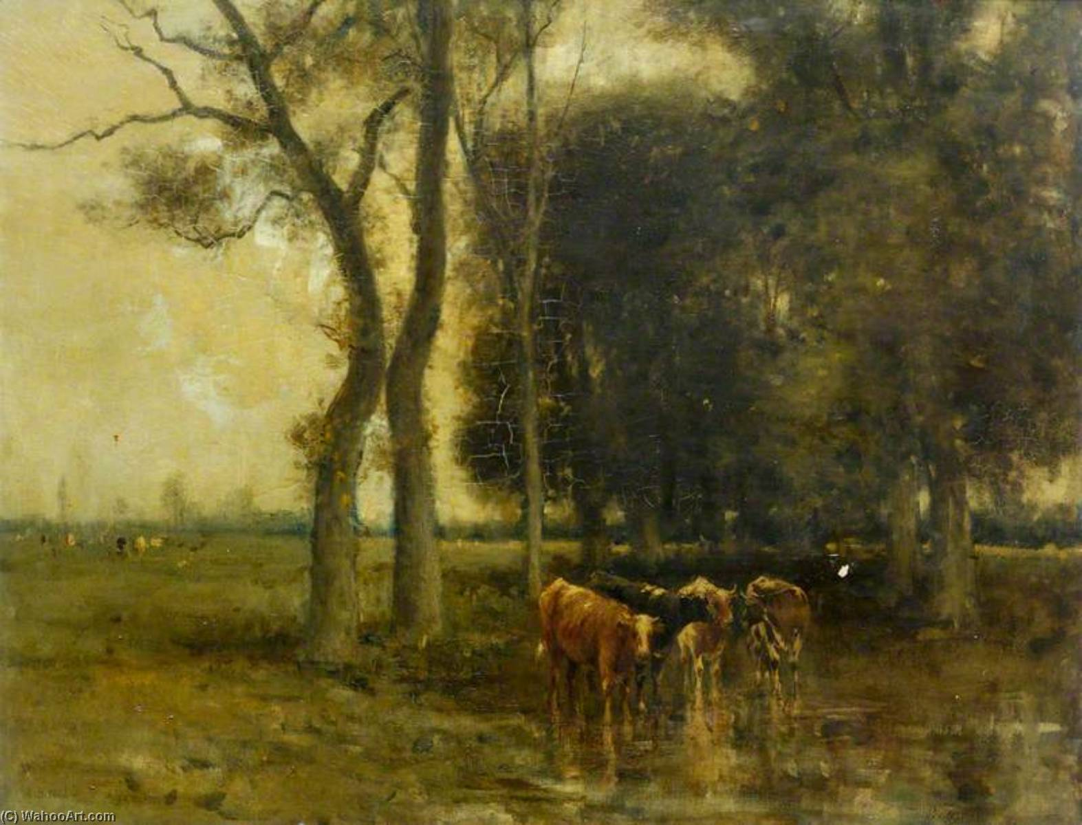 Landscape with Cattle by Archibald David Reid | WahooArt.com