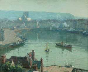Terrick John Williams - The Harbour, Dieppe
