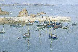 Terrick John Williams - The Harbour at Mevagissey, Cornwall