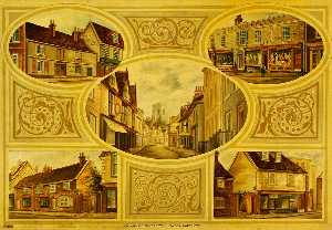William John Leggett - Old Houses, St Peter's Street, Ipswich