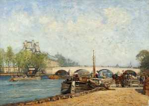 Robert Weir Allan - Paris, River Scene