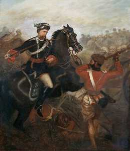 Louis William Desanges - Lieutenant Frederick Robertson Aikman (1828–1888), 4th Regiment (Bengal) Native Infantry, Commanding 3rd Regiment (Sikh) Irregular Cavalry, Winning the Victoria Cross at Lucknow, Indian Mutiny, 1 March 1858