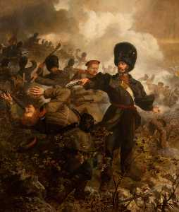 Louis William Desanges - Lieutenant Colonel Sir Charles Russell (at the Battle of Inkermann, 5 November 1854)