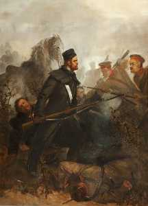 Louis William Desanges - Private John McDermond, 47th Regiment of Foot, Winning the Victoria Cross, Battle of Inkerman, 5 November 1854