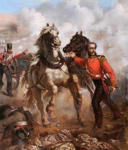 Louis William Desanges - Captain E. W. D. Bell Winning His VC at the Alma, 20th September 1854