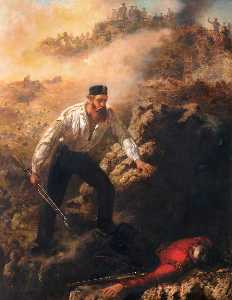Louis William Desanges - Corporal Robert Shields Winning His VC at Sebastopol, 1855