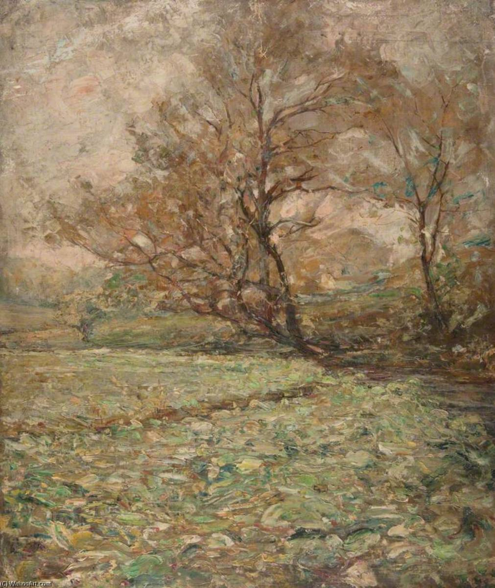 Autumn Trees in the Wind, Oil On Canvas by John Elliot Maguire