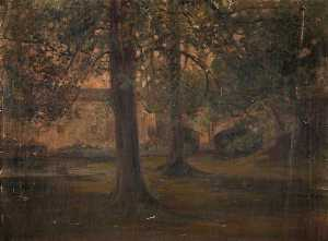 John Elliot Maguire - Mill behind Trees