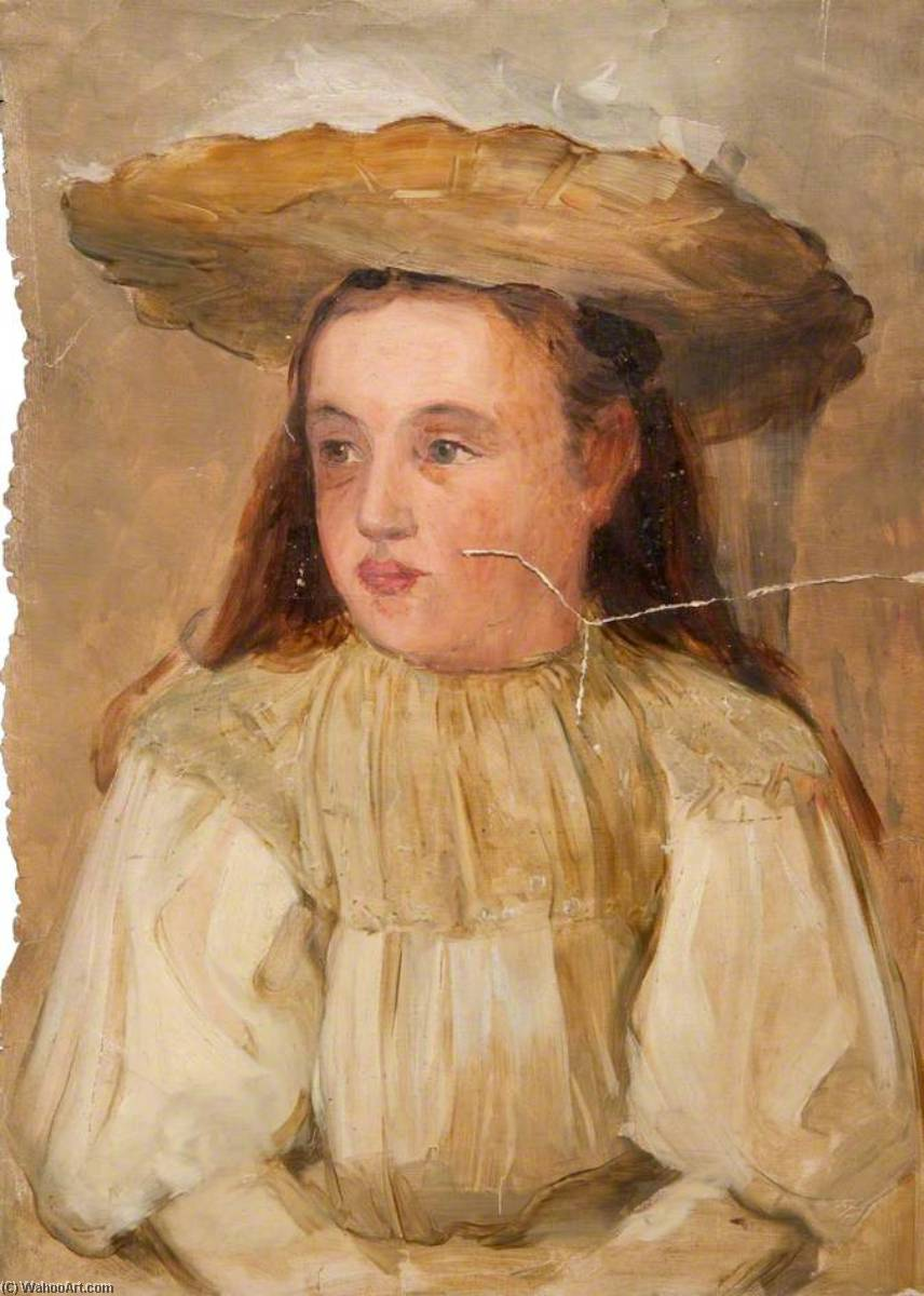 Annie Hamilton Maguire (1889–1962), the Artist's Daughter, Oil On Canvas by John Elliot Maguire
