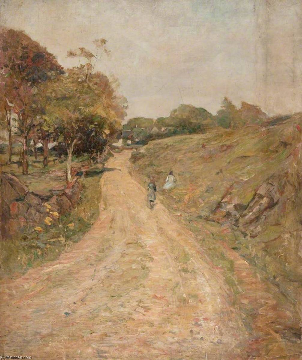 Country Road, Oil On Canvas by John Elliot Maguire