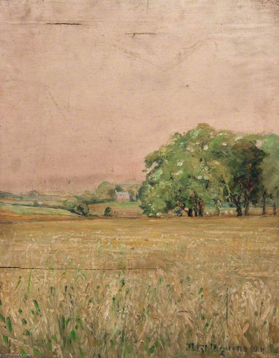 Country in Summer, Oil On Canvas by John Elliot Maguire