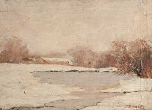 John Elliot Maguire - Country Loch in Winter