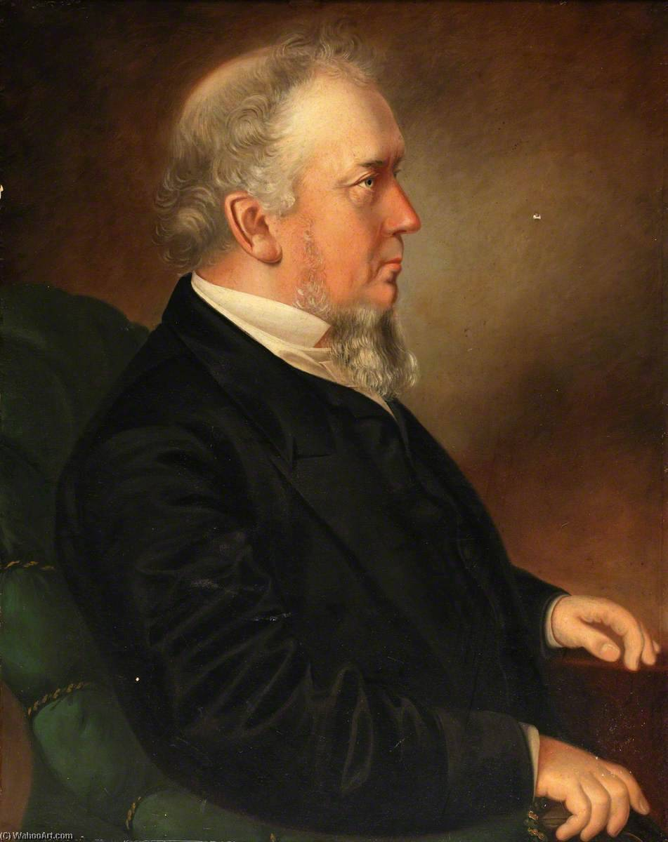 Portrait of a Minister, 1874 by Ap Caledfryn | Oil Painting | WahooArt.com