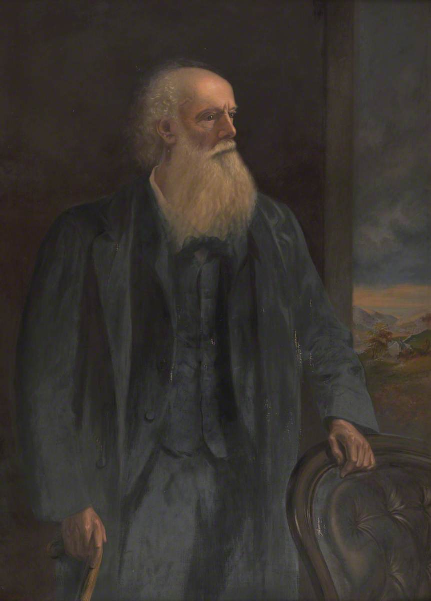 Reverend J. R. Kilsby Jones (1813–1889), Oil On Canvas by Ap Caledfryn