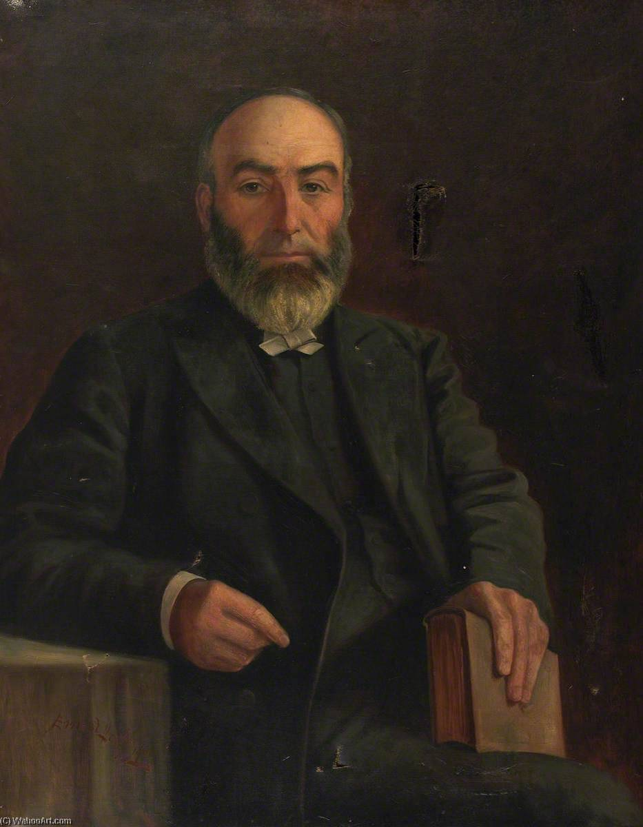 Portrait of an Unidentified Minister, 1900 by Ap Caledfryn | Oil Painting | WahooArt.com