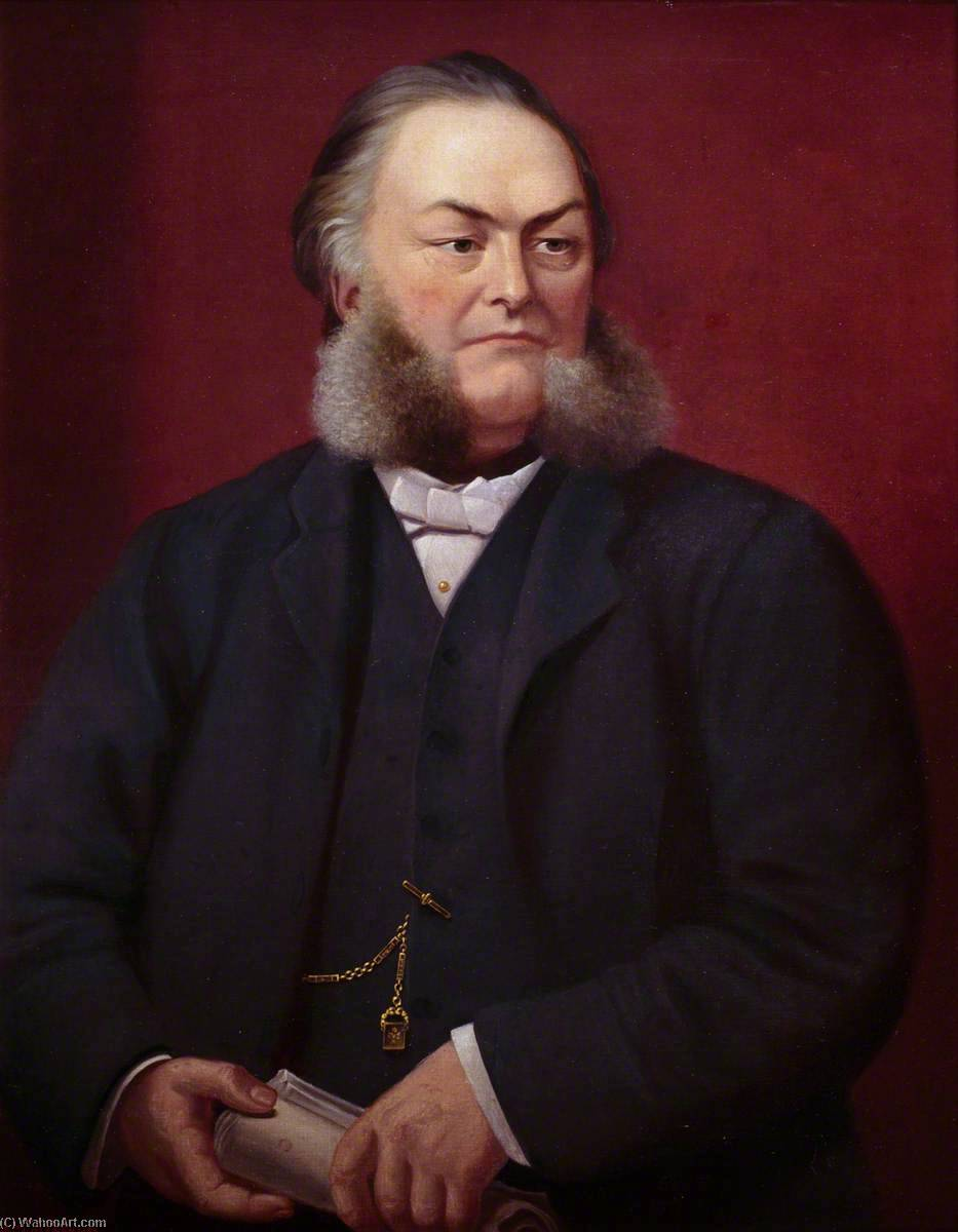 Reverend Herber Evans (1836–1896), DD, Oil On Canvas by Ap Caledfryn