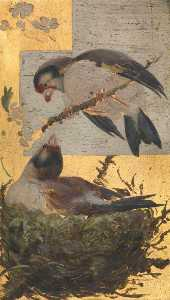 Beatrix Whistler - Two Finches