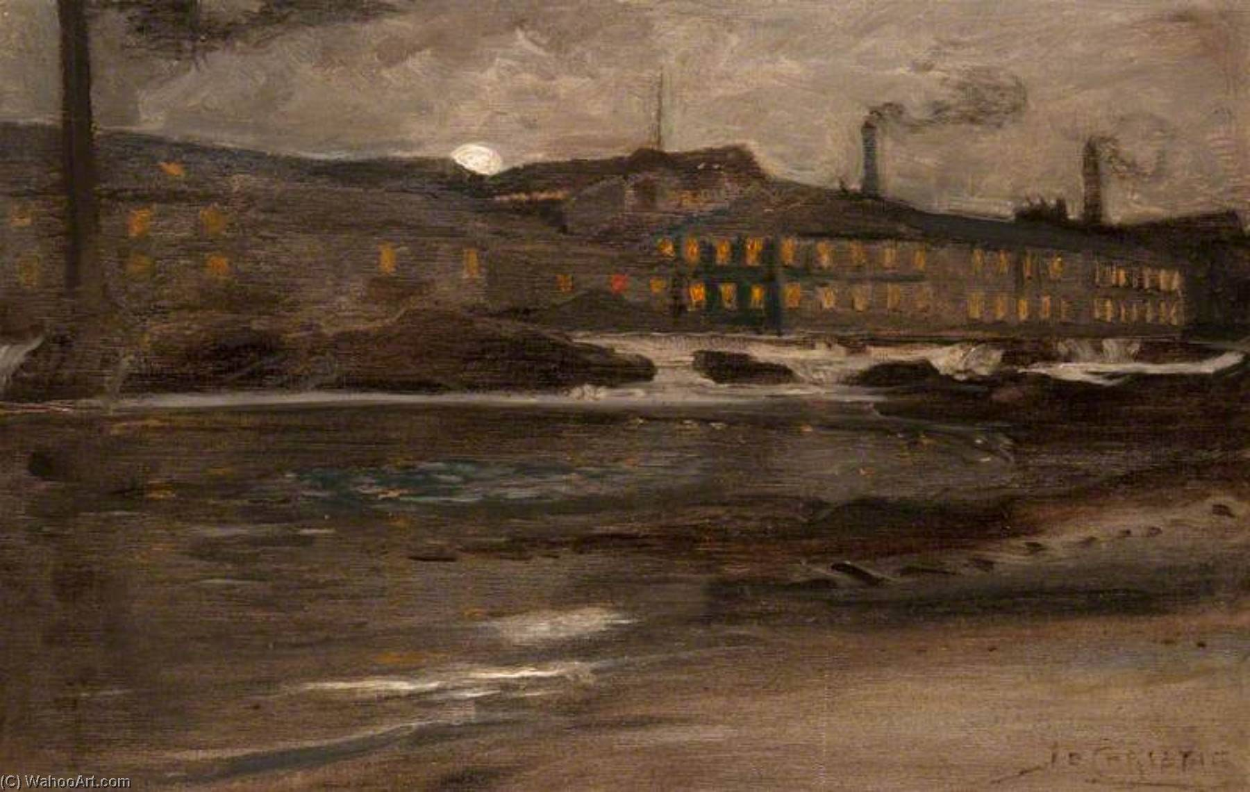 Order Art Reproductions | Anchor Mills, across the Hammils by James Elder Christie | WahooArt.com