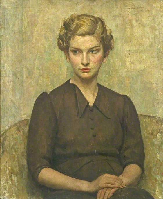 Portrait of a Young Woman, 1934 by Arnold Mason | Museum Quality Reproductions | WahooArt.com