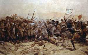 William Barns Wollen - Battle of Abu Klea, 17 January 1885