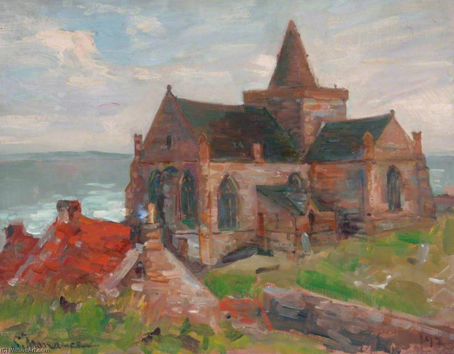 St Monans, Fife, Oil On Canvas by William Henry Charlton