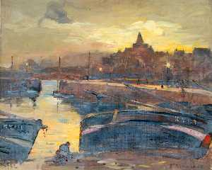 William Henry Charlton - Harbour, Evening