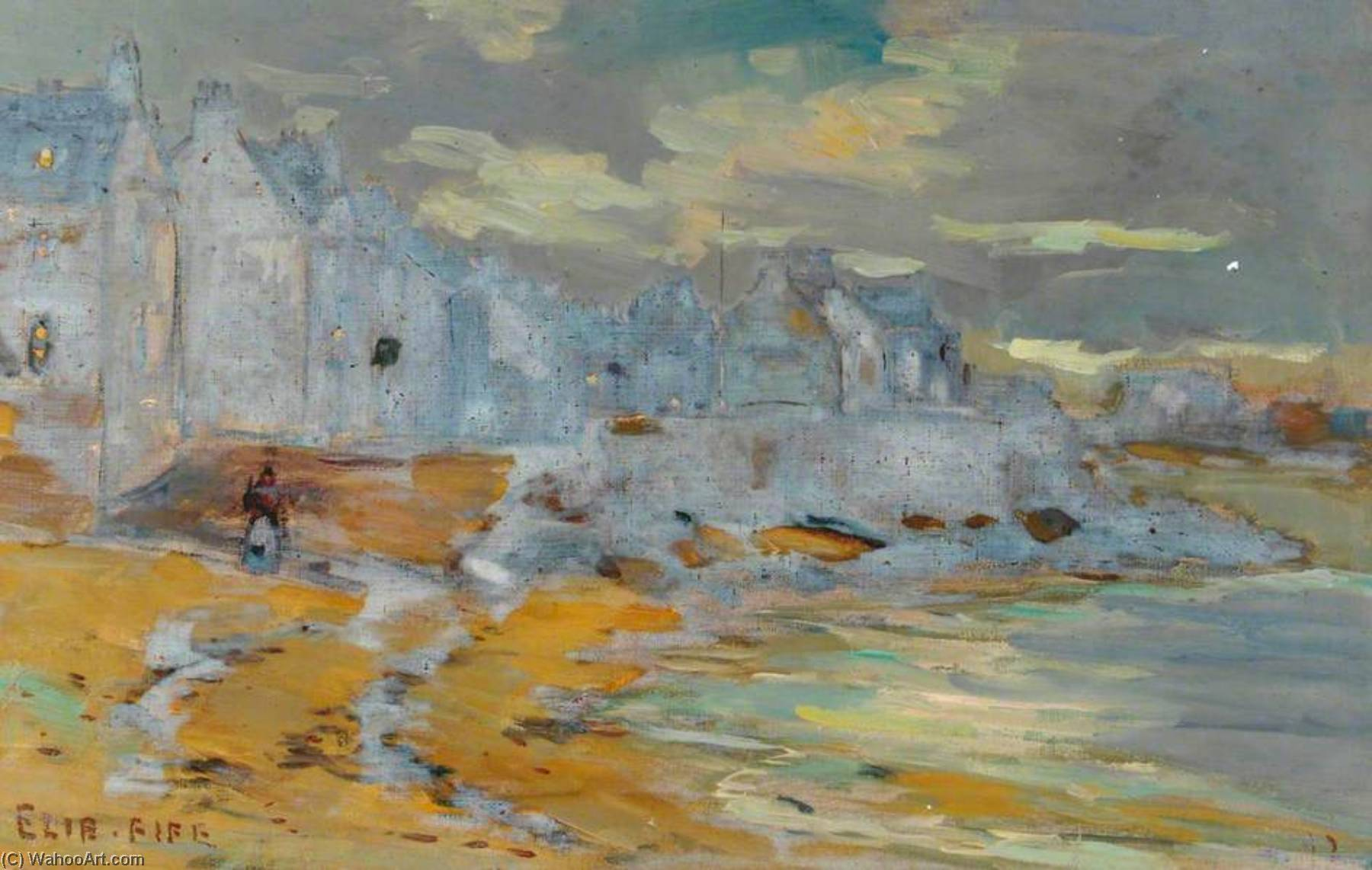 Elie, Fife, Oil On Canvas by William Henry Charlton
