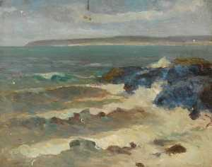William Henry Charlton - Seascape with Waves
