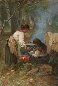 Charles Gustav Louis Phillips - A Gipsy Cook