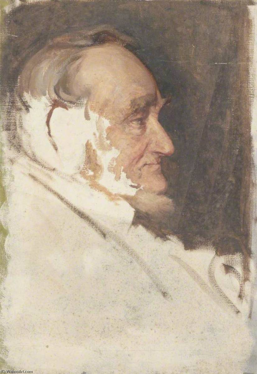 Portrait of an Old Man (probably C. Douglas McKenzie), Oil On Canvas by Beryl Fowler