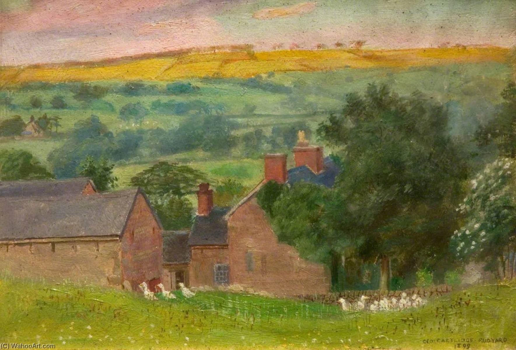 Geeson Hill, Rudyard, Oil On Panel by George Cartlidge