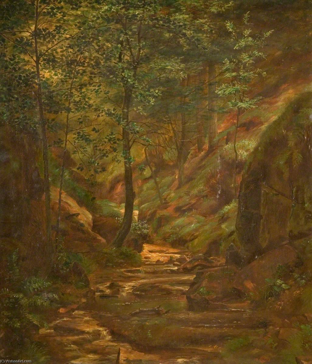 Order Painting Copy : Woodland Scene, 1893 by George Cartlidge | WahooArt.com