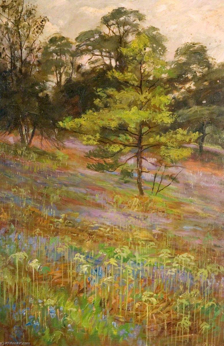 Bluebells, Cliff Park, Rudyard, 1899 by George Cartlidge | Museum Quality Reproductions | WahooArt.com