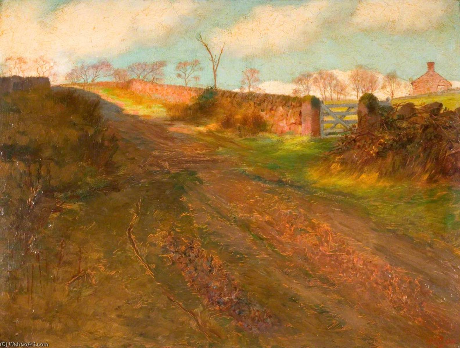 Winter Sunshine, Cliff Park, Rudyard, 1900 by George Cartlidge | WahooArt.com