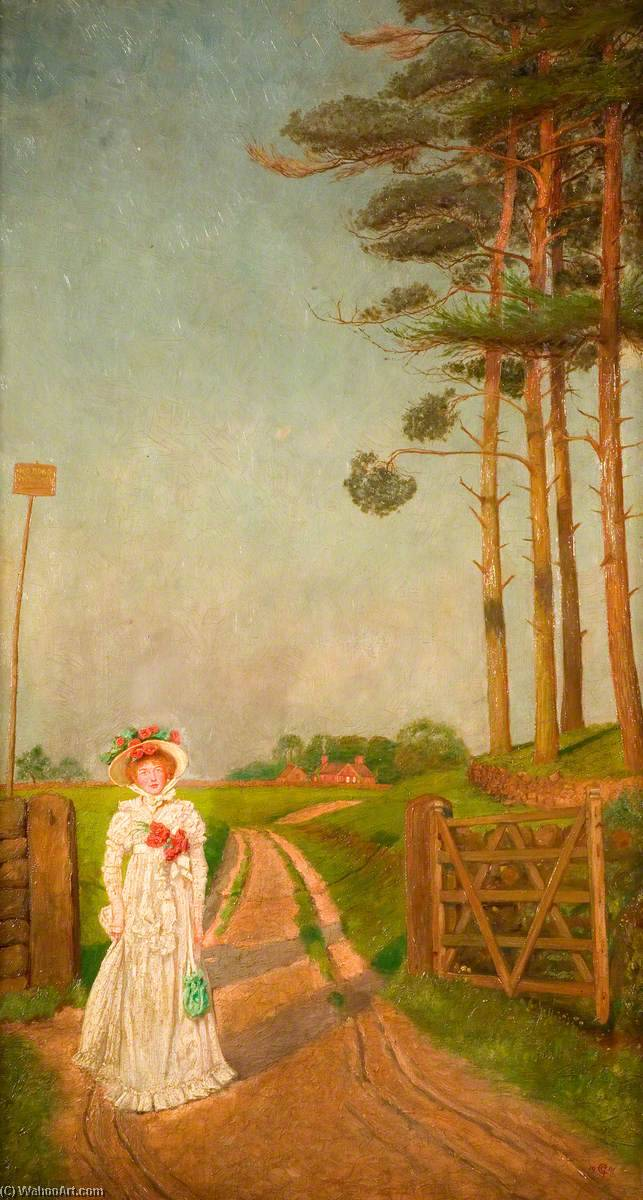 The Cart Road, 1900 by George Cartlidge | WahooArt.com