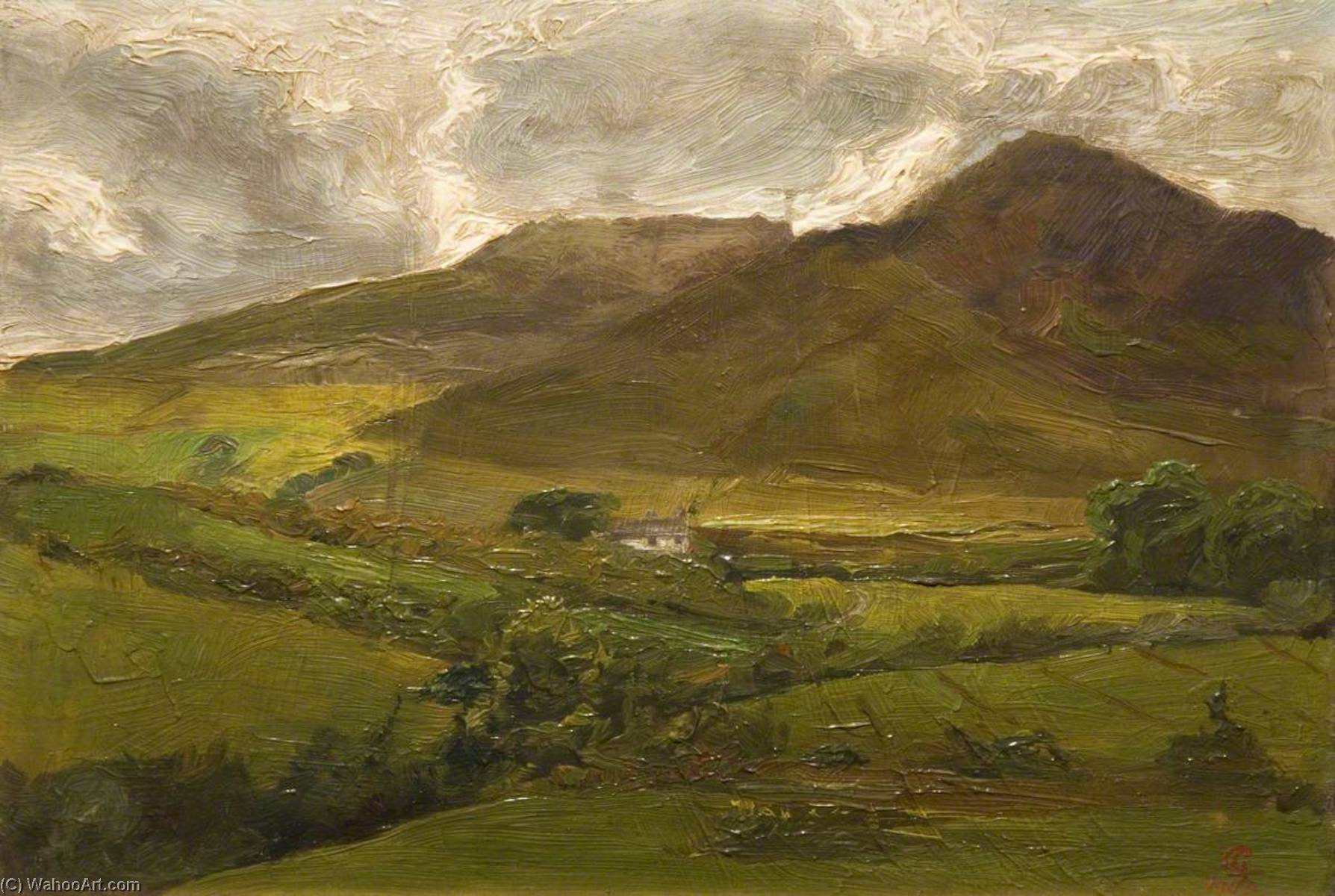 Moorland Landscape, 1903 by George Cartlidge | WahooArt.com
