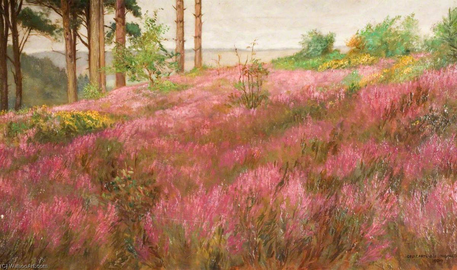 In September, a Staffordshire Hilltop, 1909 by George Cartlidge | Painting Copy | WahooArt.com