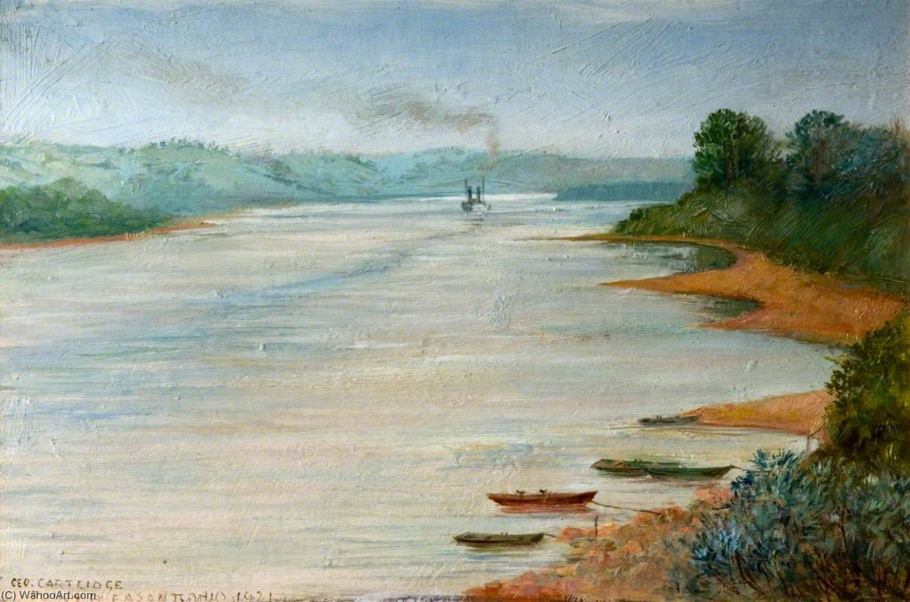 Point Pleasant, Ohio, USA, Oil by George Cartlidge