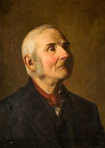 Order Museum Quality Reproductions : A Model from Art School (Portrait of an Old Man) by George Cartlidge | WahooArt.com